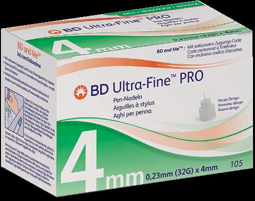 BD Ultra-Fine Pro 32G 4mm 105 Stück