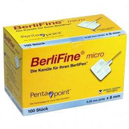 BerliFine micro Pen-Nadeln 31G 8mm 100 Stück