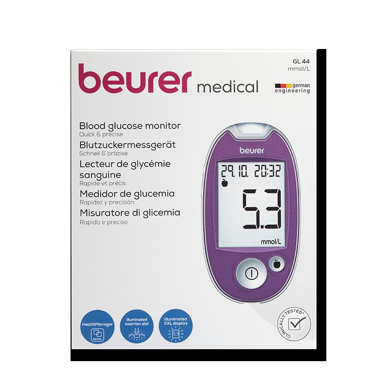 beurer GL44 Set mmol/l lila