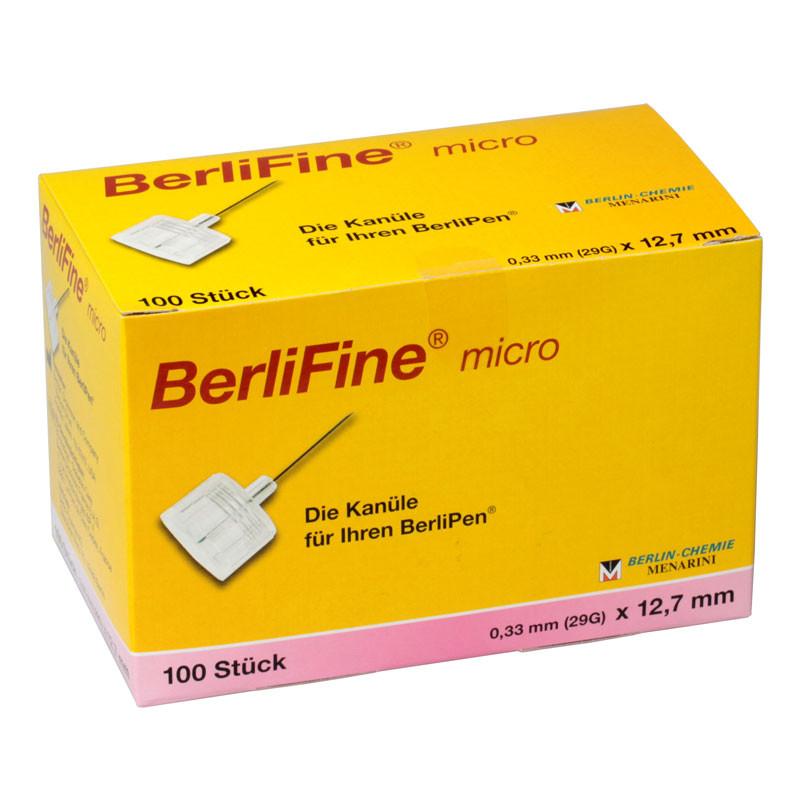 BerliFine micro Pen-Nadeln 29G 12,7mm 100 Stück