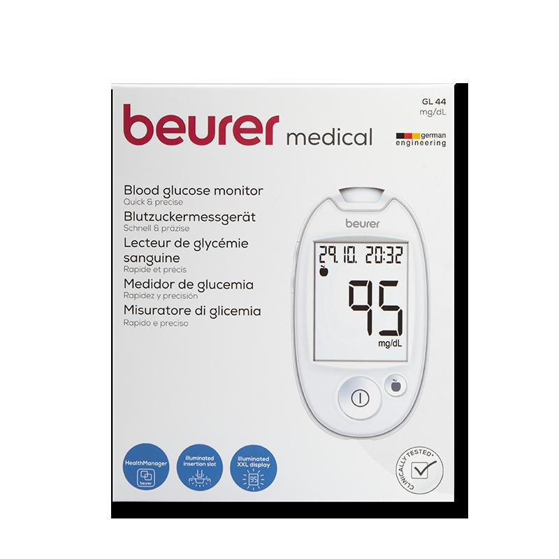 beurer GL44 Set mg/dl weiß
