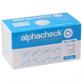 alphacheck soft Pen-Nadeln 31G 8mm 100 Stück