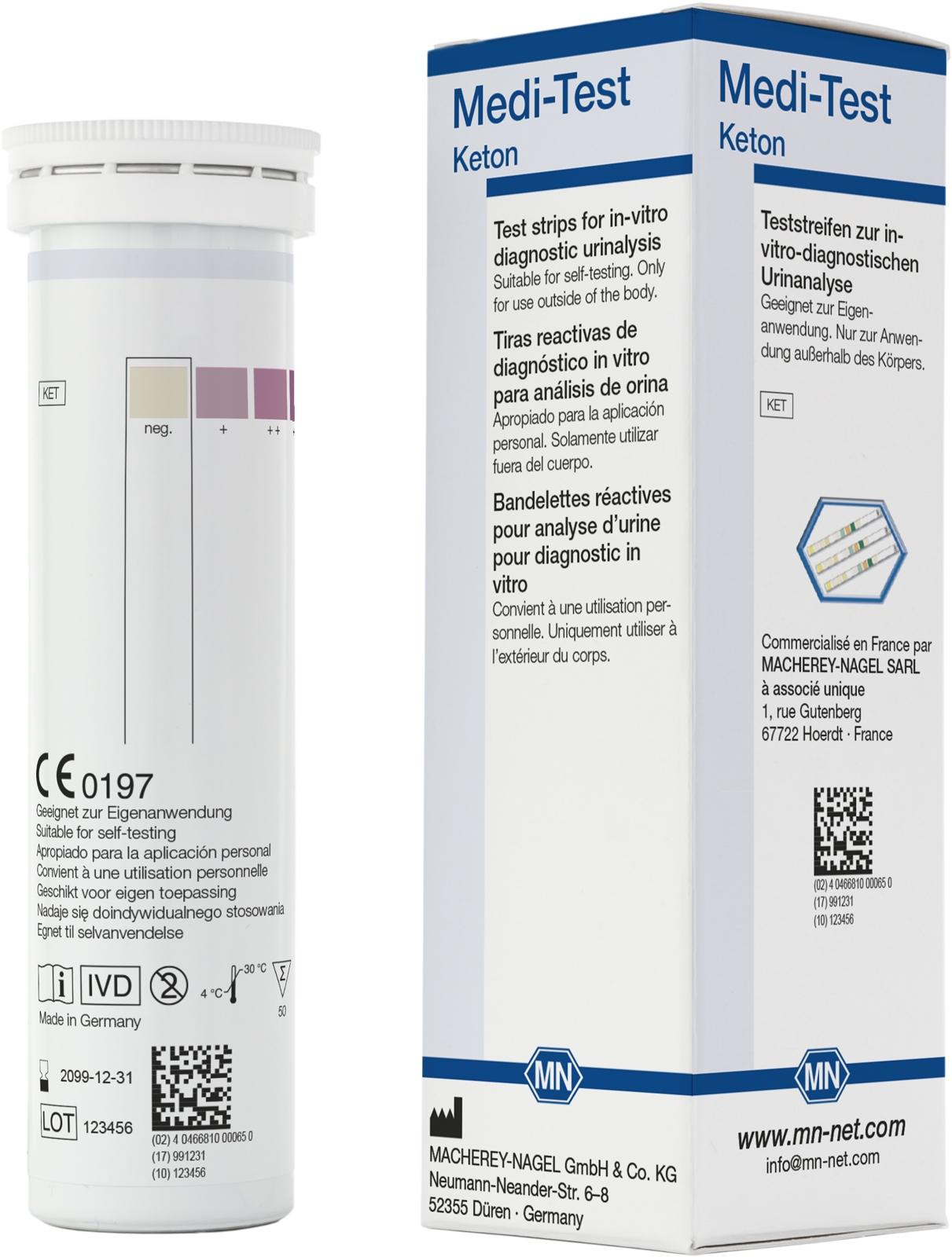 Medi-Test Ketone Teststreifen 50 Stück