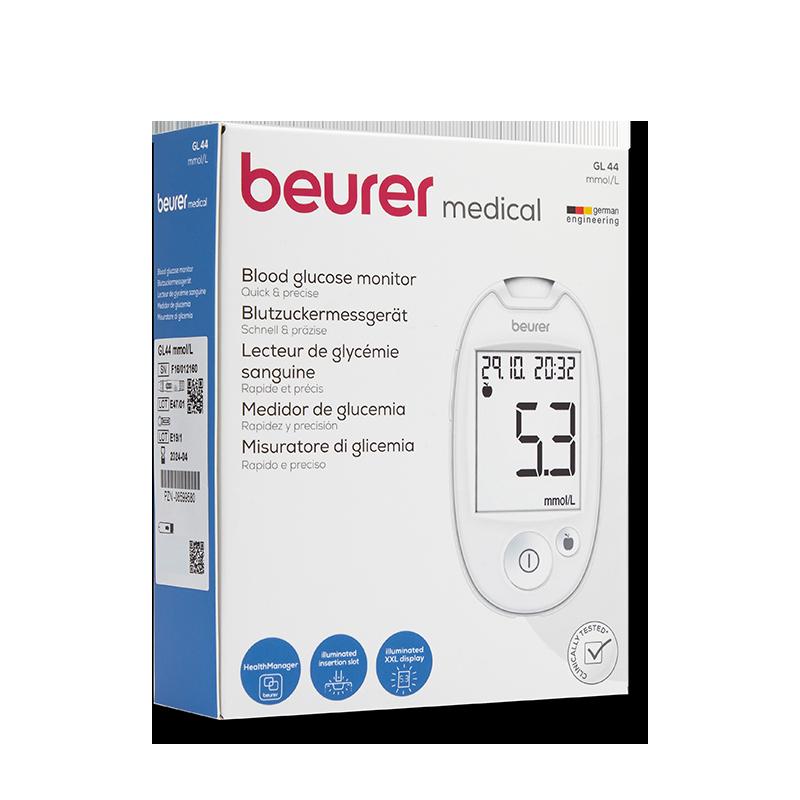 beurer GL44 Set mmol/l weiß