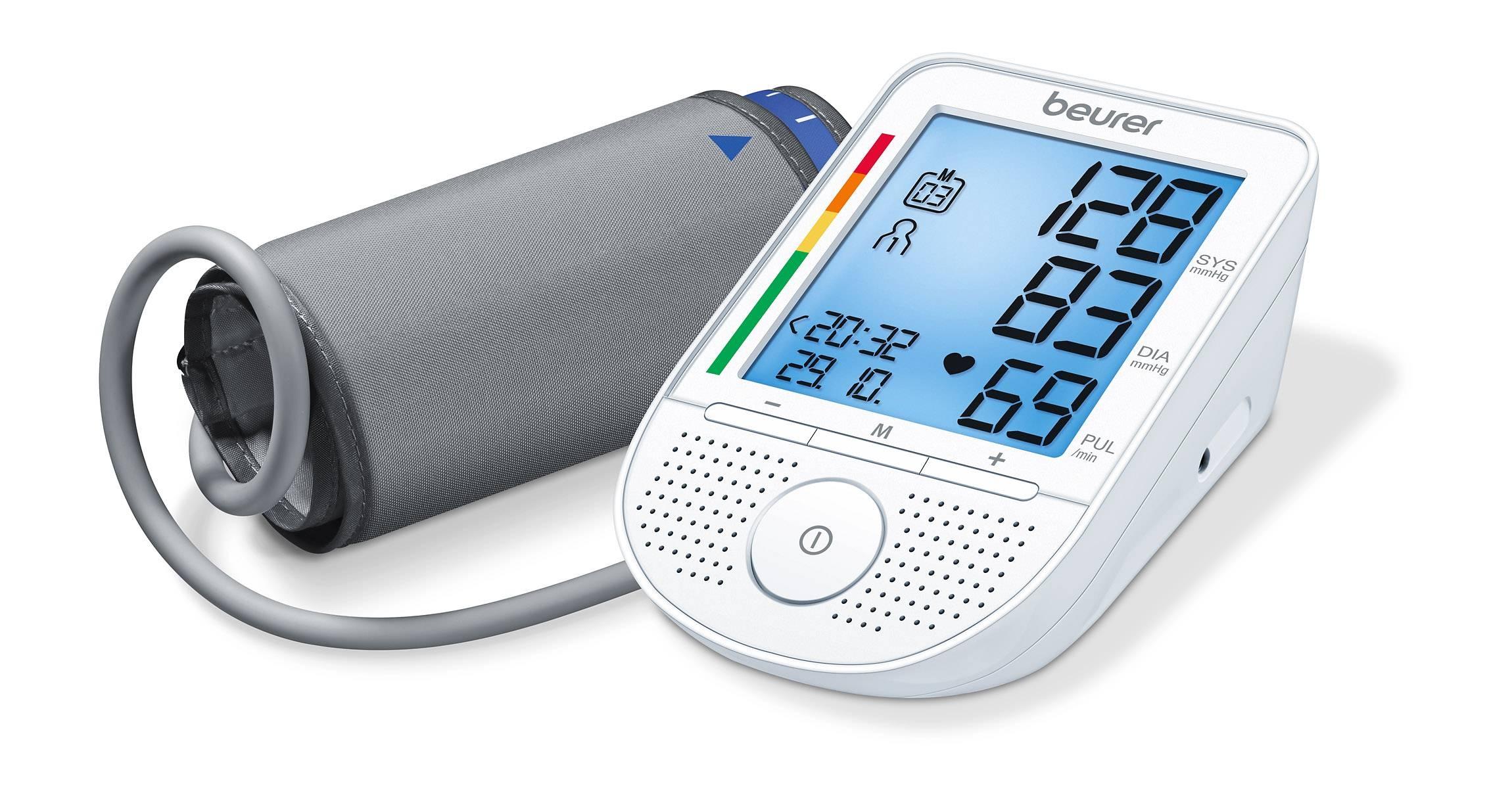beurer BM49 Oberarm-Blutdruckmessgerät sprechend