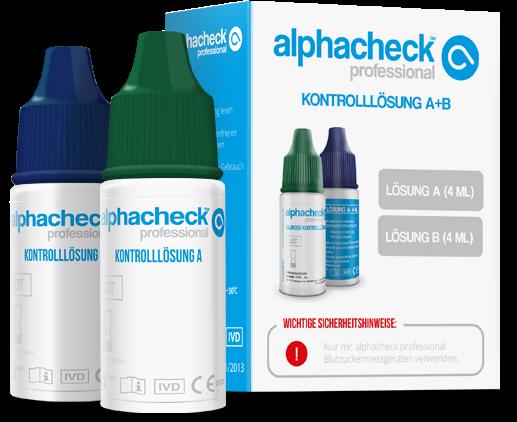 alphacheck professional Kontrolllösung A+B 2 x 4ml