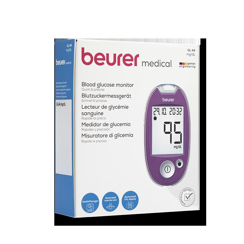 beurer GL44 Set mg/dl lila