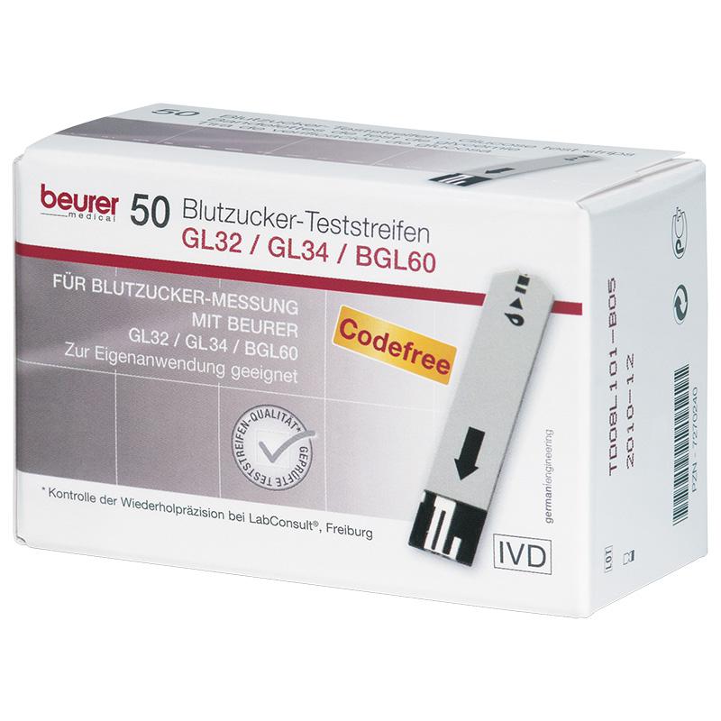 beurer GL32/GL34 Blutzucker-TS 50 Stück