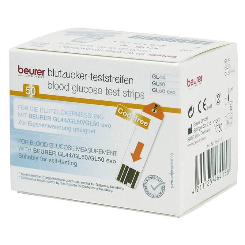 beurer GL44/50/50evo Blutzucker-TS 50 Stück