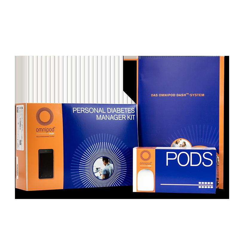 Omnipod DASH System Starter Set mg/dl + 10 Pods