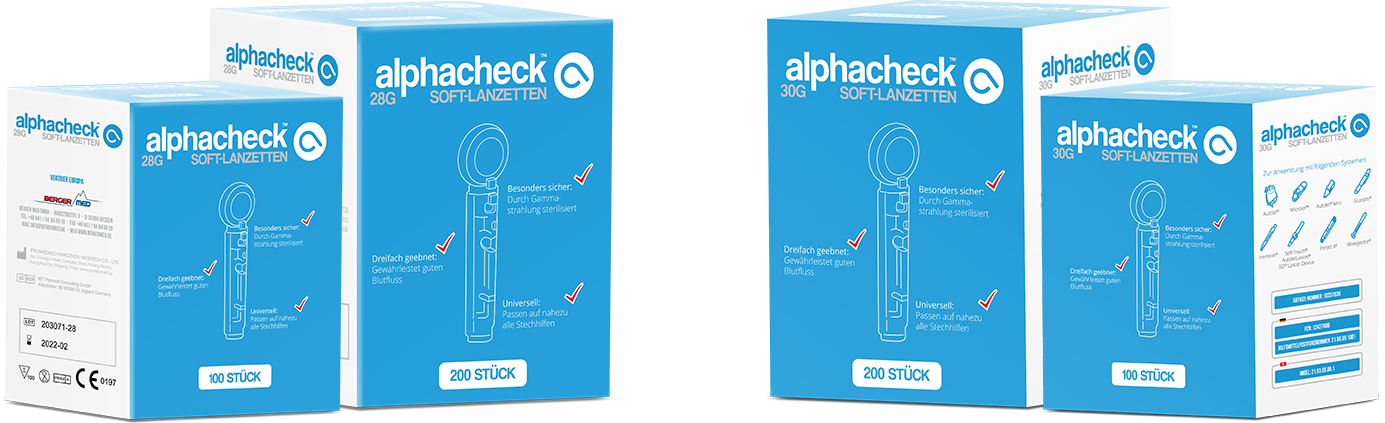 alphacheck soft Lanzetten 30G 100 Stück