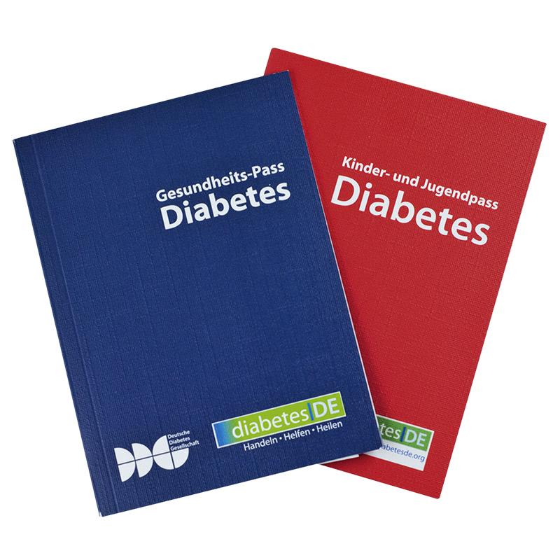 Gesundheits-Pass Diabetes Erwachsene blau