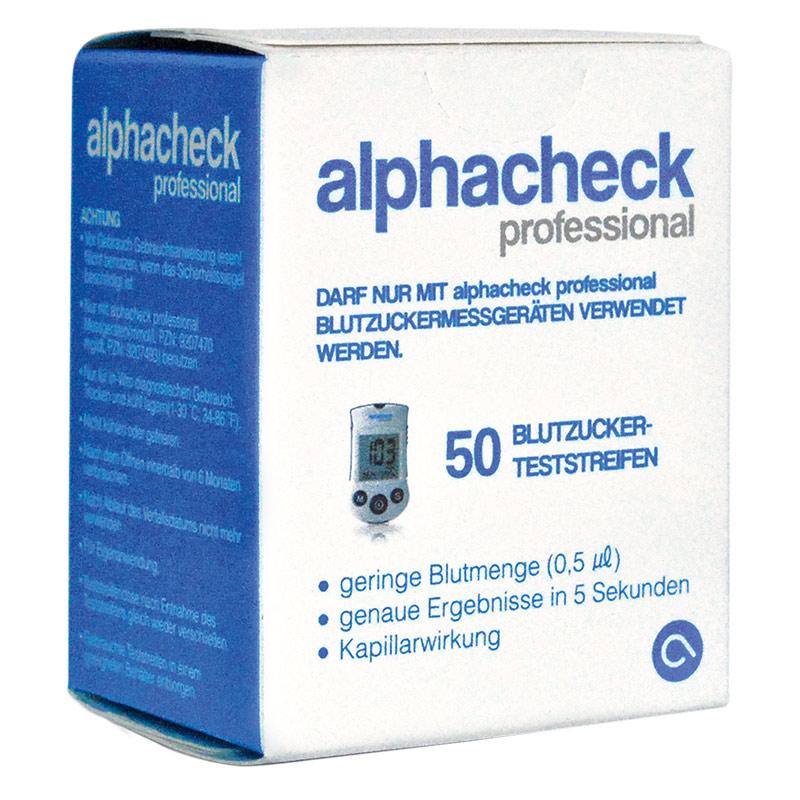 alphacheck professional Blutzucker-TS 50 Stück