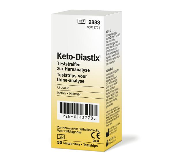 Keto-Diastix Harnzucker-TS 50 Stück