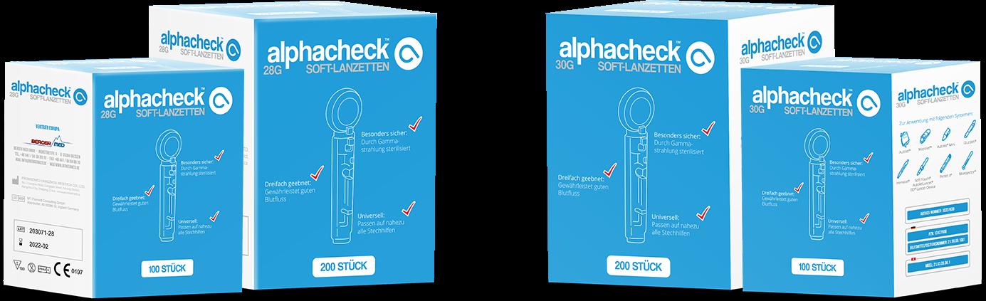 alphacheck soft Lanzetten 28G 100 Stück