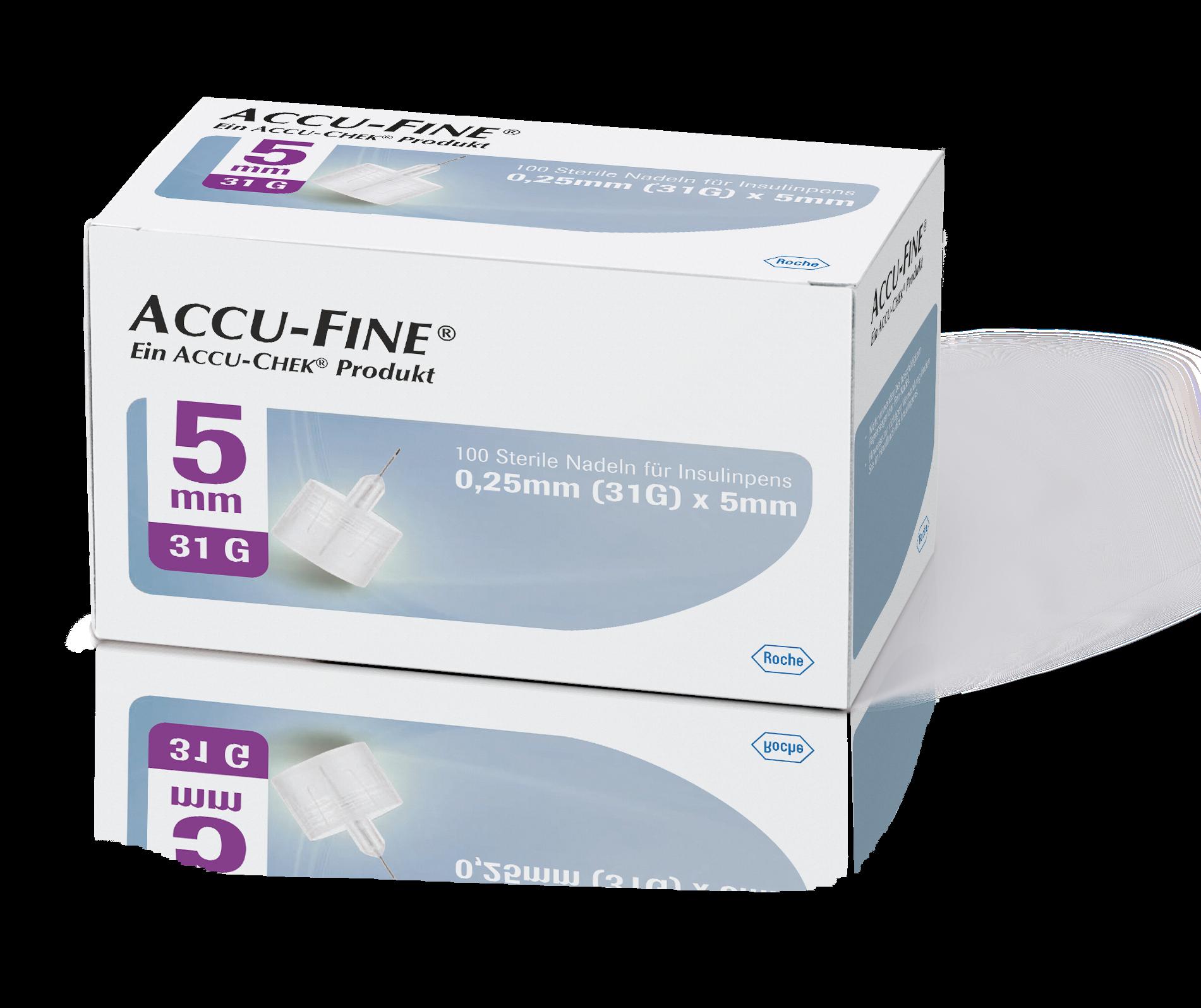 Accu-Fine Pen-Nadeln 31G 5mm 100 Stück