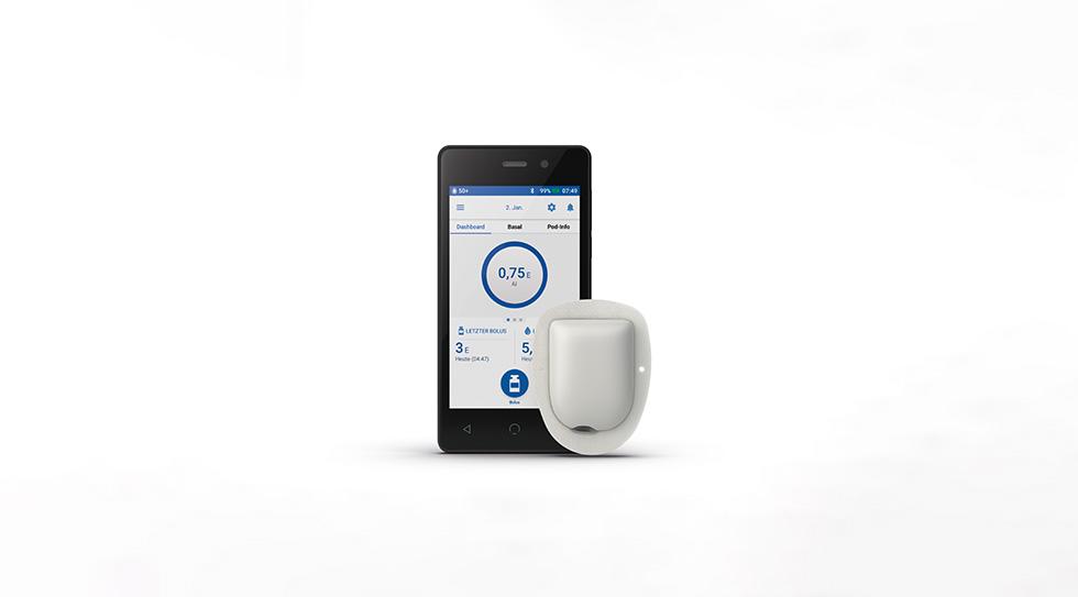 """Omnipod DASH™ - die Patch-Pumpe jetzt mit """"Handy"""""""