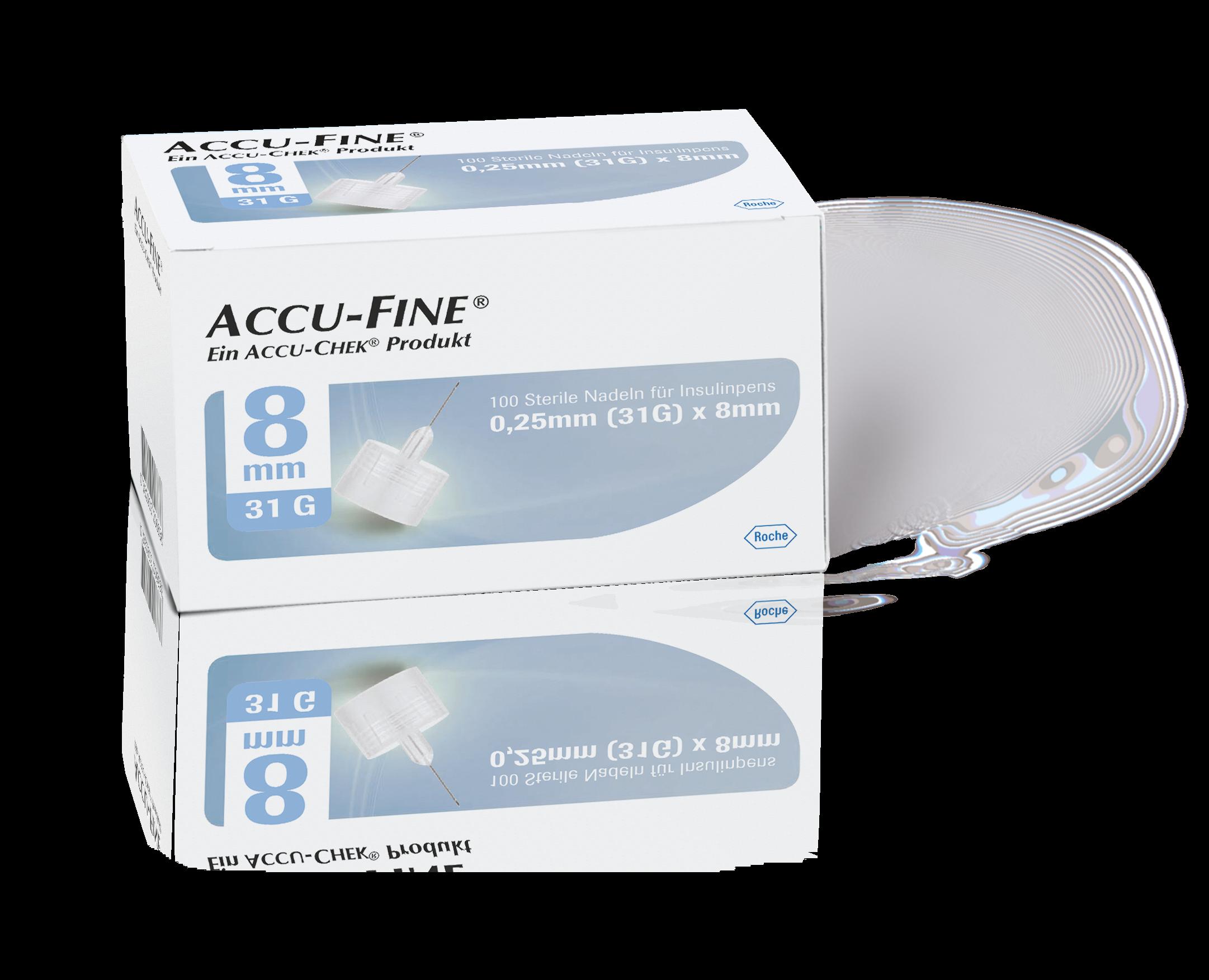 Accu-Fine Pen-Nadeln 31G 8mm 100 Stück
