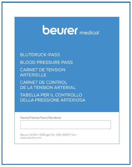 beurer Blutdruckpass