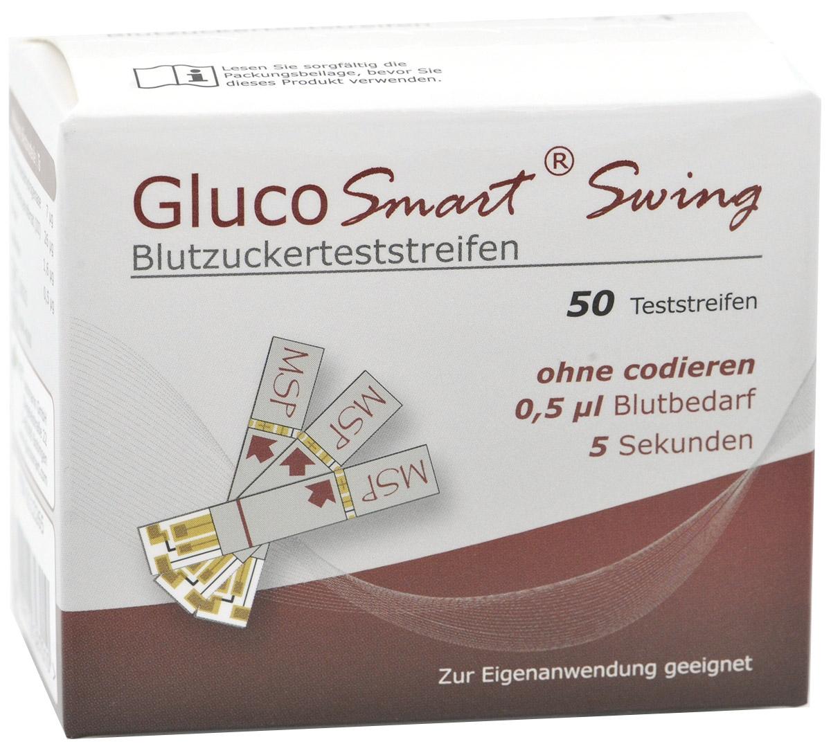 GlucoSmart Swing Blutzucker-TS 50 Stück