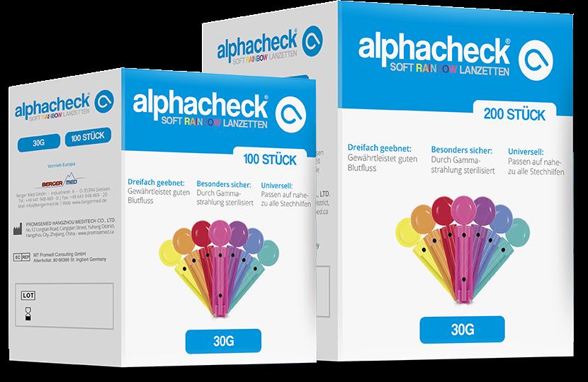 alphacheck soft Rainbow Lanzetten 30G 100 Stück