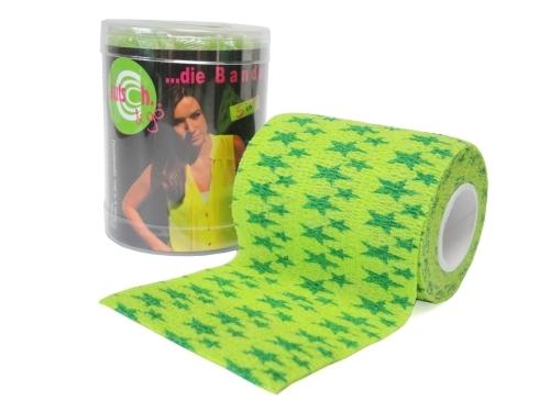 autsch&go Fixiertape 7,5cm x 4,5m green star